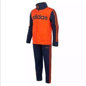 Adidas boys jacket and pants size 4T